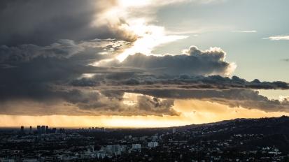Thunderstorm in LosAngeles
